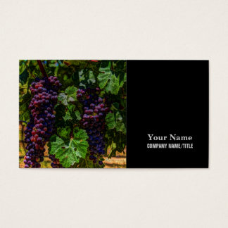 Winery Grapevine sunny tuscany vineyard grapes Business Card