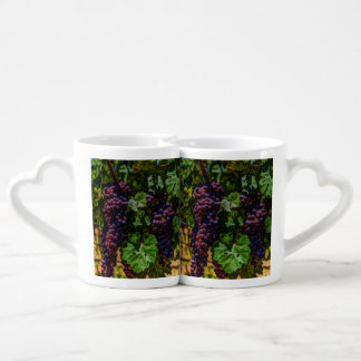 Winery Grapevine sunny tuscany vineyard grapes Coffee Mug Set