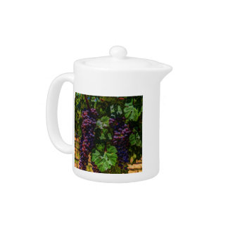 Winery Grapevine sunny tuscany vineyard grapes Teapot