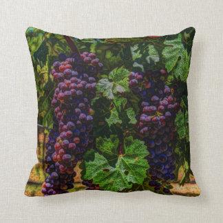 Winery Grapevine sunny tuscany vineyard grapes Throw Pillow