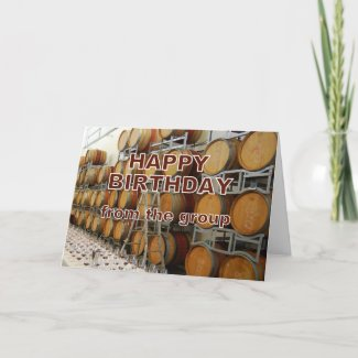 Winery Happy Birthday From Group card