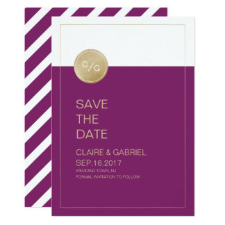 Winery minimalist modern wedding save the date card