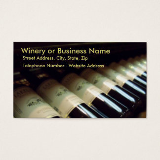 Winery or Business Address Card Profile Card