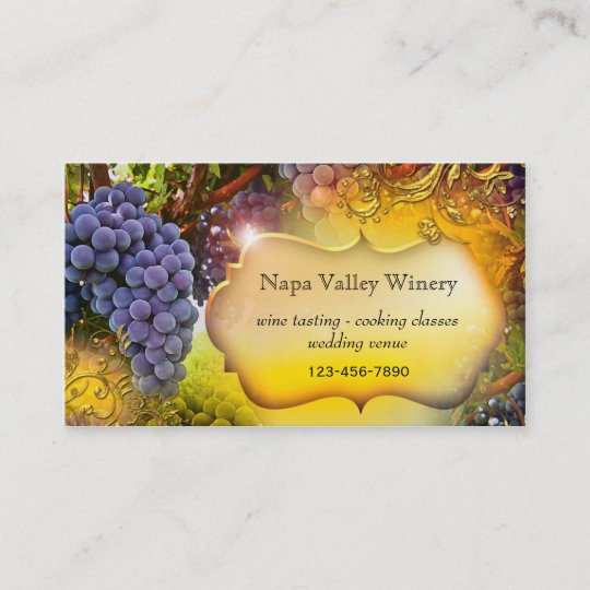 winery or vineyard qr code business card - Qr Code Business Card