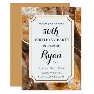 Winery or Vineyard Watercolor Birthday Invitation