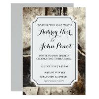 Winery or Vineyard Watercolor Wedding Invitation