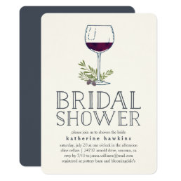 Winery or Wine Tasting Bridal Shower Invitation