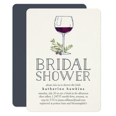 elegant wine glass bridal shower invitations zazzlecom