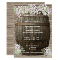 Winery, Rustic Wood, Country, Wedding Invitation