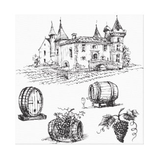Winery Sketch Canvas Print