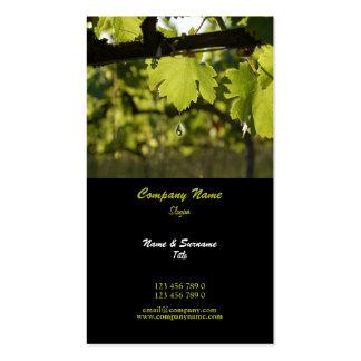 Winery vineyard grape business profile business card templates