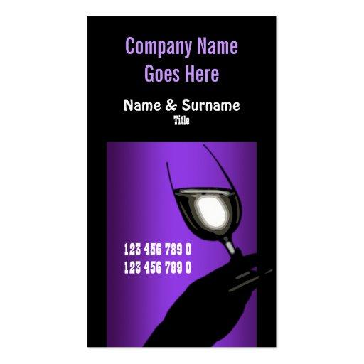Winery vineyard wine purple black white business card templates
