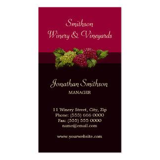 Winery / Vineyards Oenology business card