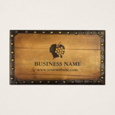 Winery Vintage Framed Old Wood Vineyard Wine Business Card at Zazzle