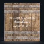 "Winery Wedding Album | Rustic Wooden Barrel Binder<br><div class=""desc"">Country vineyard wedding planner/photo album featuring a simple rustic wooden wine barrel and modern wedding wording.</div>"