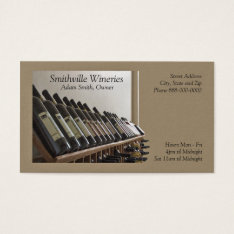 Winery Wine Making Business Card at Zazzle