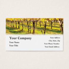Winery Wine Restaurant Vineyard Business Cards at Zazzle