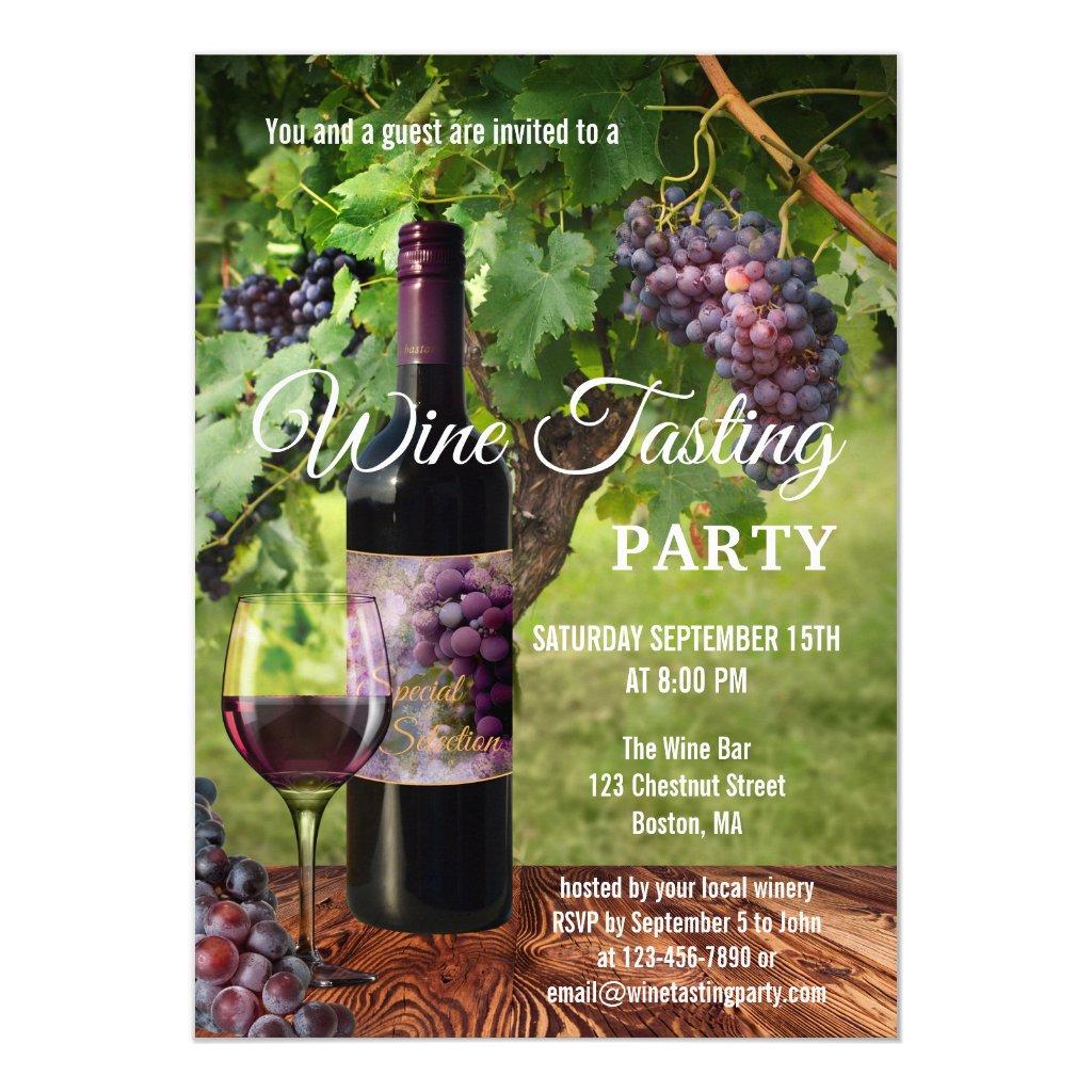 Winery Wine Tasting Event Invitation