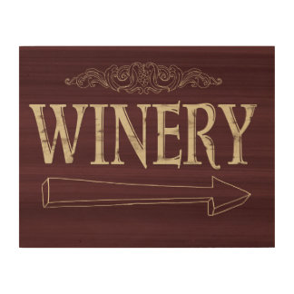 Winery Wood Plaque Wood Print
