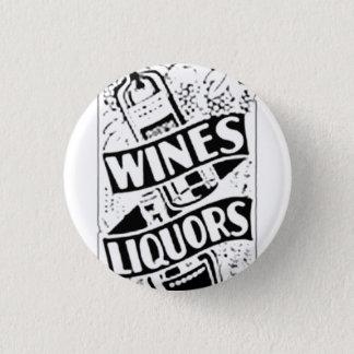 Wines & Liquors Retro Style Advert Button