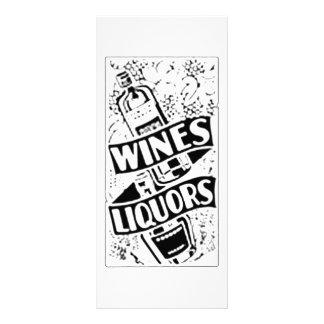 Wines & Liquors Retro Style Advert Full Color Rack Card