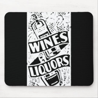 Wines & Liquors White Mouse Pad