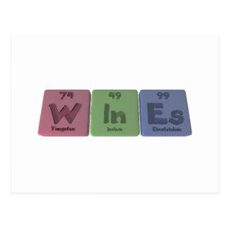 Wines-W-In-Es-Tungsten-Indium-Einsteinium.png Postcard
