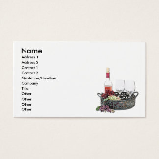 WineServingTray, Name, Address 1, Address 2, Co... Business Card