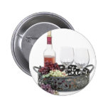 WineServingTray Pinback Buttons