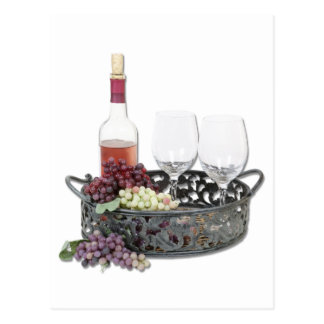 WineServingTray Tarjetas Postales