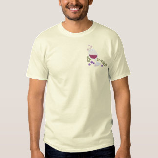 WineToast-Corner Recolor Recolor Embroidered T-Shirt
