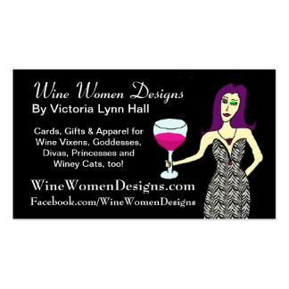 WineWomenDesigns.com featuring Wine Vixen Business Card