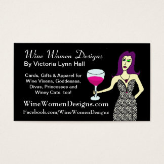 WineWomenDesigns.com featuring Wine Vixen Business Card