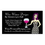 WineWomenDesigns.com que ofrece al Vixen del vino Tarjeta De Negocio