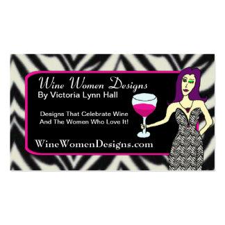 WineWomenDesigns.com que ofrece al Vixen del vino Tarjetas De Visita