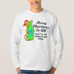 """Winey Cat Christmas """"...And To All Some Good Wine"""" Shirts"""
