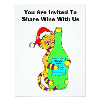 Winey Cat Holiday Wine Tasting Card