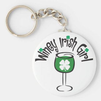 Winey Irish Girl Keychain