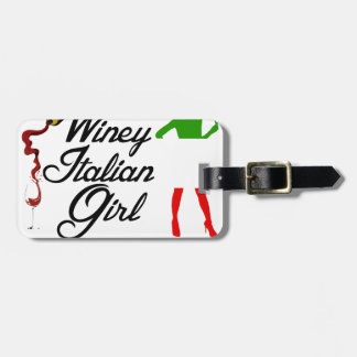 Winey italian girl tag for luggage