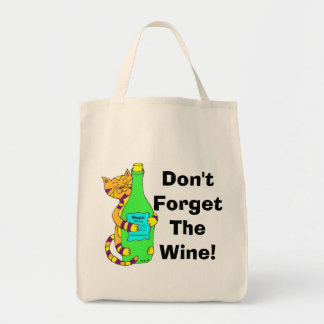 "Wineycat ""Don't Forget The Wine!"" Shopping Bag"