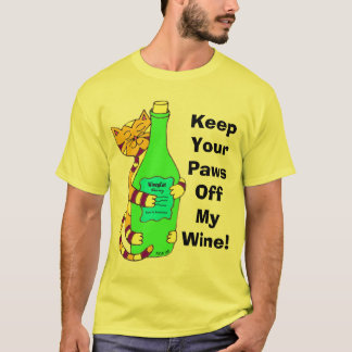 "Wineycat ""Keep Your Paws Off My Wine"" T-Shirt"