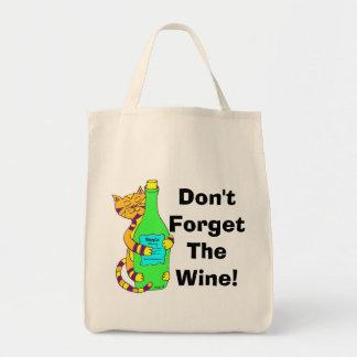 """Wineycat """"no olvida el vino!"""" Bolso de compras Bolsas"""