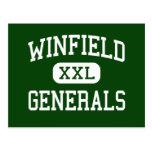 Winfield - Generals - High - Winfield Postcard
