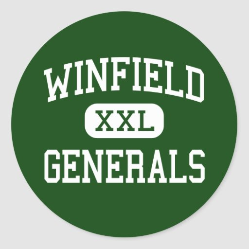 Winfield - Generals - High - Winfield Classic Round Sticker