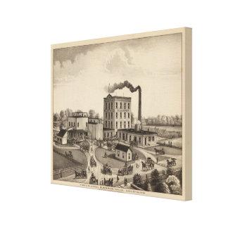 Winfield Roller Mills, Blissand Wood, Kansas Canvas Print