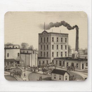 Winfield Roller Mills, Blissand Wood, Kansas Mousepads