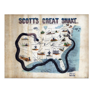 Winfield Scott's Great Snake Anaconda Plan Postcard