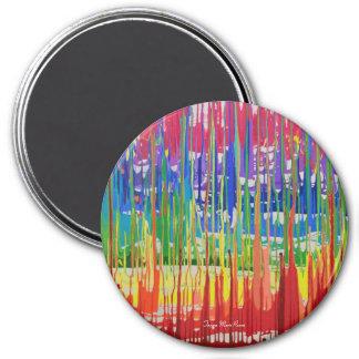 Winfrey Abstract Round Magnet