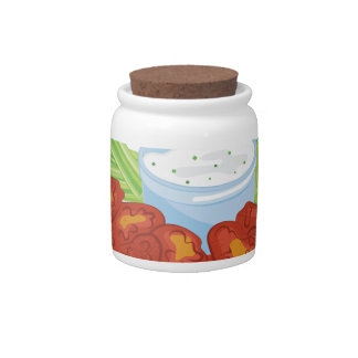 Wing A Ding Candy Jars