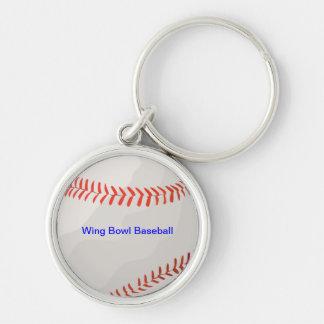Wing Bowl Baseball Keychain